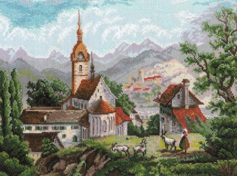 Монастырь Шоненверт по мотивам гравюр XIX века