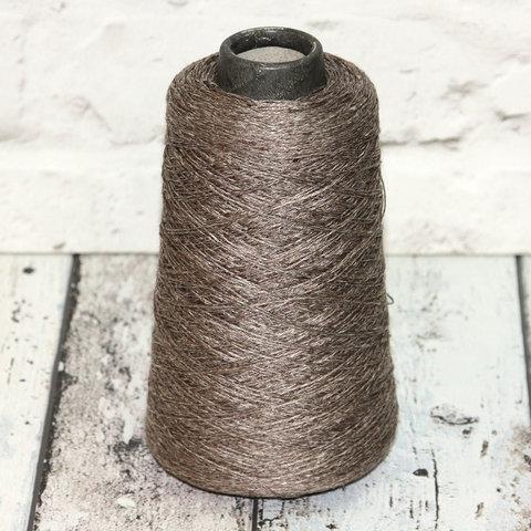 Лен 100% SERVIZI E SETA / LINO 5/26 серо-коричневый