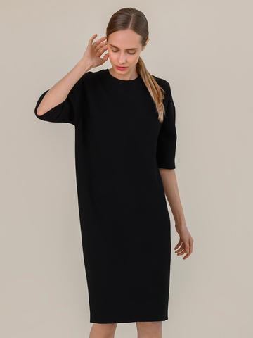 Женское платье черного цвета из вискозы - фото 5
