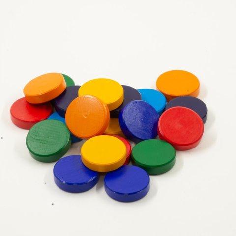 Радужные монетки 21шт