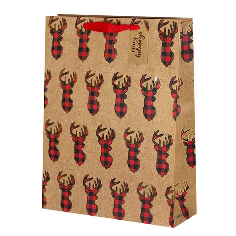 Пакет подарочный Крафт Deer 32*42*11.5 3