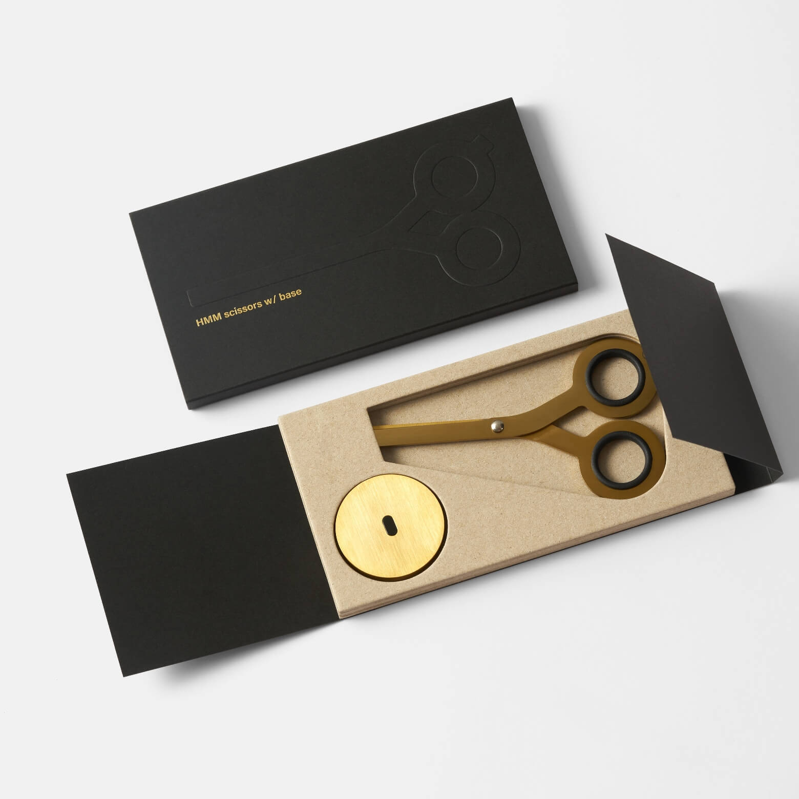 HMM Scissors Gold — ножницы с подставкой
