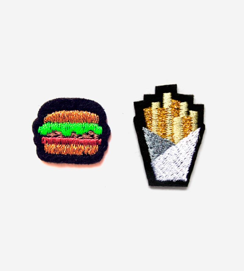 Набор патчей-заплаток Hamburger&Fries