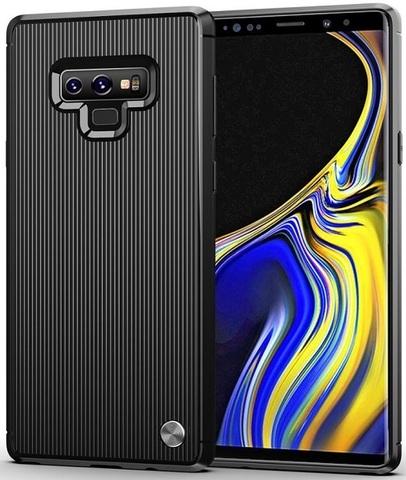 Чехол для Samsung Galaxy Note 9 цвет Black (черный), серия Bevel от Caseport