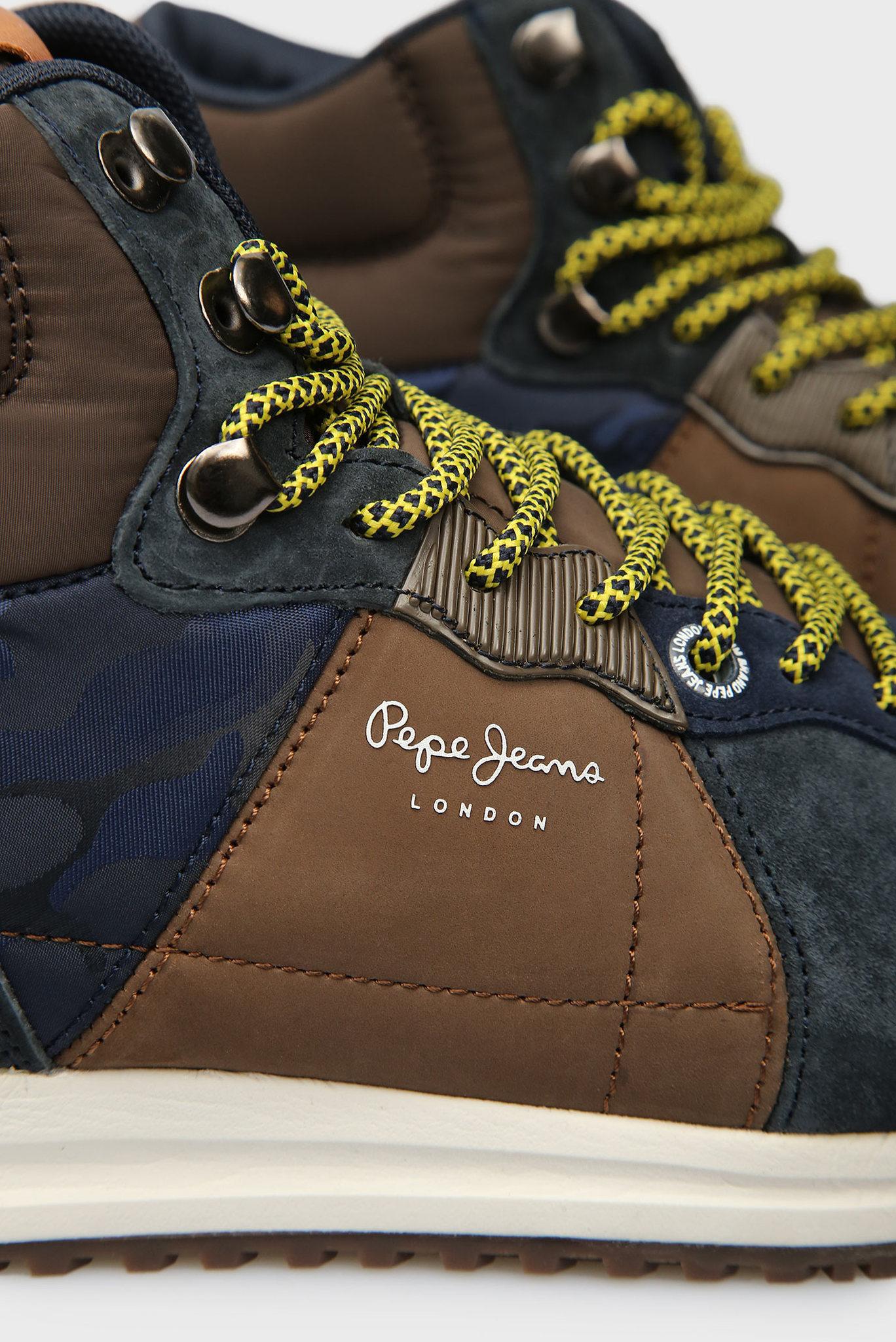 Мужские синие замшевые хайтопы Pepe Jeans
