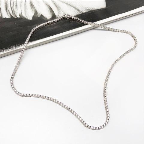 70439 - Колье- дорожка из серебра с цирконами