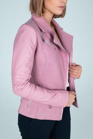 Куртка приталенная из кожзама Nadya