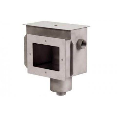 Скиммер нержавеющая сталь AISI-304 с удлиненным горловиной и камерой долива внутреннее подключение 2