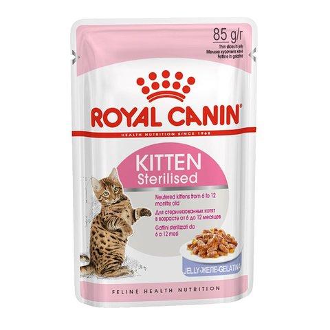 Royal Canin Kitten Sterilized пауч для стерилизованных котят в желе 85г