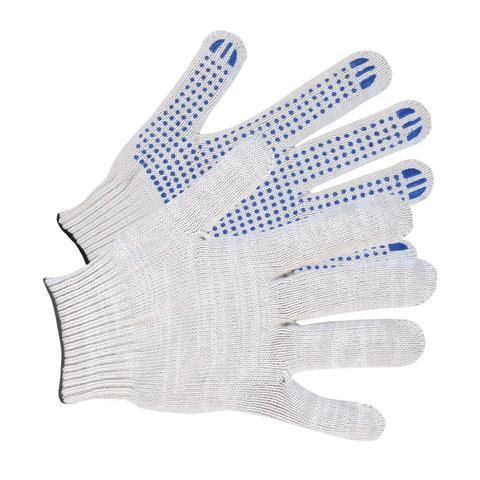 Перчатки хб с ПВХ 3/10  белые