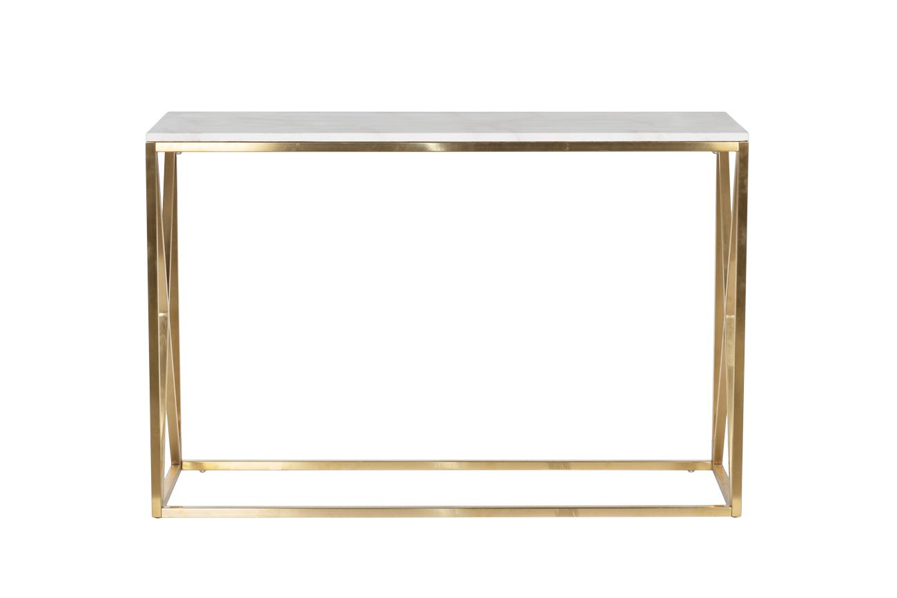 Консоль искусственный белый мрамор/золото (47ED-CST023GOLD) Garda Decor