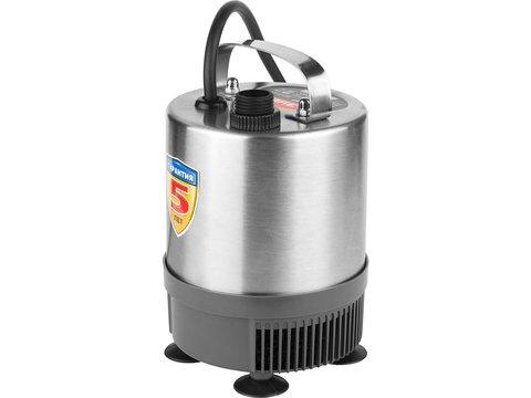 Насос фонтанный, ЗУБР ЗНФЧ-23-1.9-C, нерж сталь, для чистой воды, напор 1,9 м, насадки: колокольчик, гейзер, каскад, 38 Вт, 23 л/мин