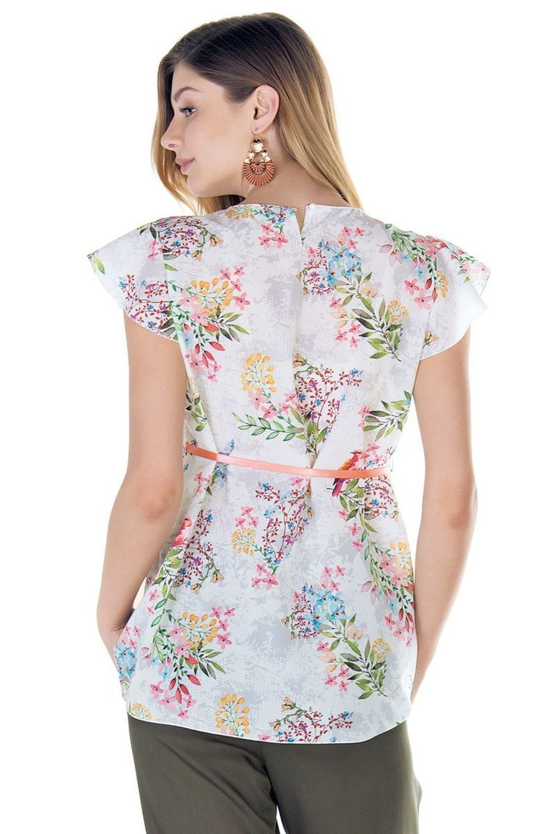 Блузка для беременных 09436 цветы