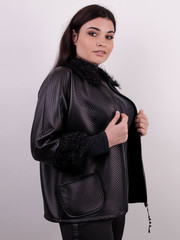 Нота. Легка куртка size plus. Чорний.
