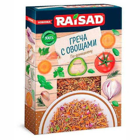 """Греча с овощами """"По-Домашнему"""" Raisad, 200г"""