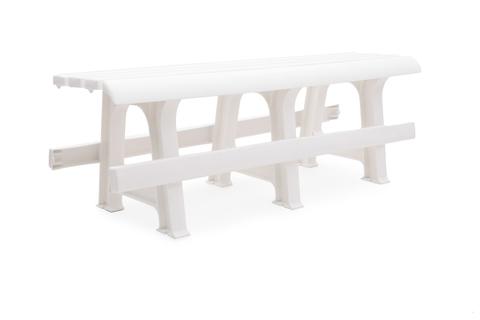Пластиковая скамья №3 белая