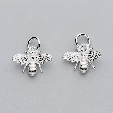 Подвеска Пчела в стиле Герлен светлое серебро 925 1 шт
