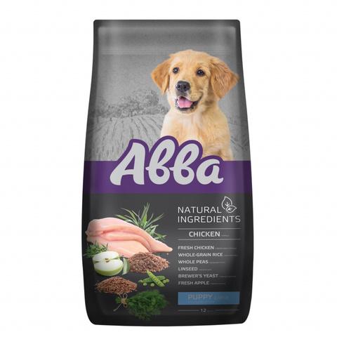 АВВА корм для щенков крупных пород с курицей, 12кг (NEW)