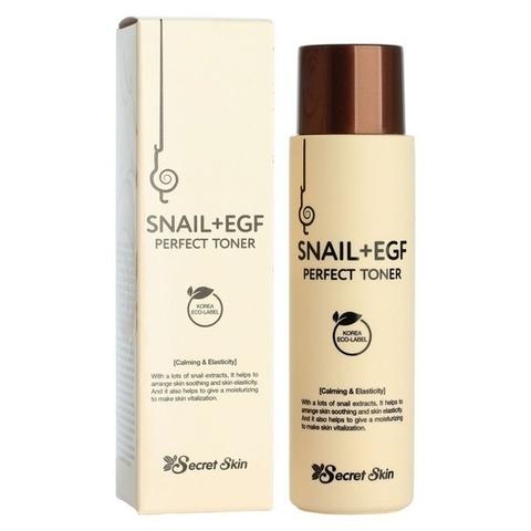 Тонер для лица с экстрактом улитки Secret Skin Snail EGF Perfect Toner