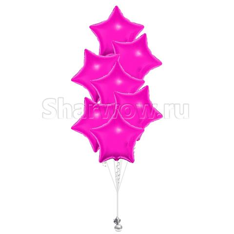 Букет из шаров звезд розовый
