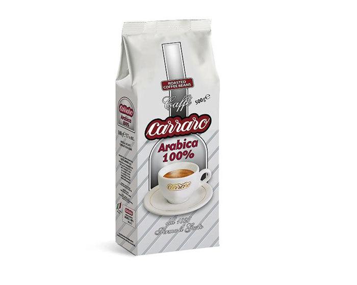 Кофе в зернах Carraro Arabica 100%, 500 г (Карраро)