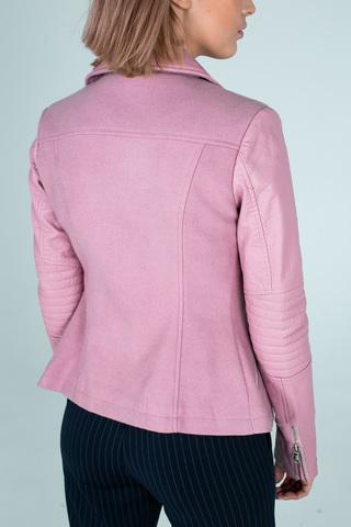 Куртка приталенная из кожзама купить