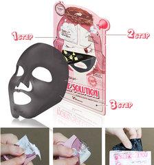 Трехступенчатая Маска Для Сужения Пор Elizavecca Pore Solution Super Elastic Mask Pack (Набор Из 10 Масок), 10 Шт По 25 Мл