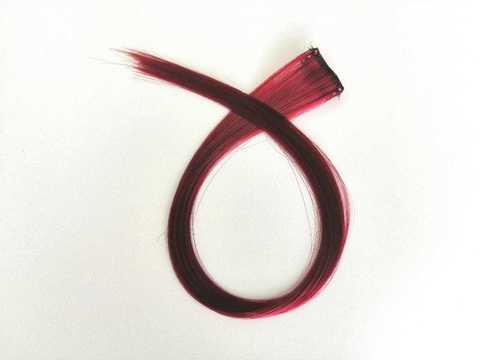 Пряди для волос, цвет бордовый. Длина 47см. (1411)