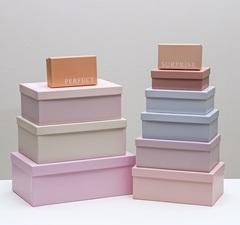 Набор подарочных коробок 10 в 1 «Нежный», 12 × 7 × 4 - 32.5 × 20 × 12.5 см, 1 набор.