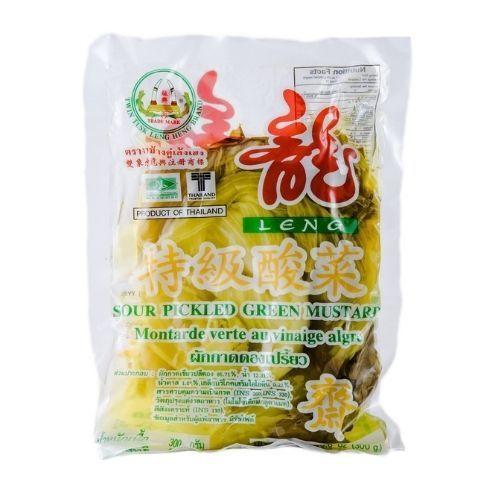 Зеленая горчица маринованная Twin Tusk Leng Heng, 350 г
