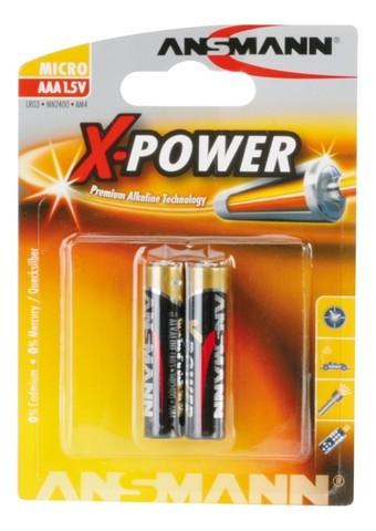 Батарейка X-POWER ААА/ANSMANN 1.5V - 2шт