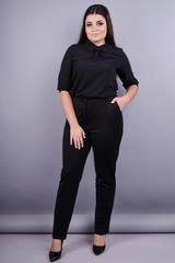 Елія д/ф. Жіночі брюки плюс сайз. Чорний.