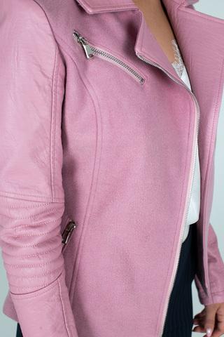 Куртка приталенная из кожзама магазин