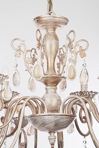 Люстра подвесная 10009/12 белый с золотом