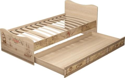 Кровать односпальная Квест 4 с ящиком Ижмебель 90х190 дуб сонома светлый