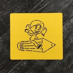 Ученик №13 Девочка на карандаше
