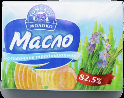 """Масло """"Томское молоко"""" сливочное традиционное ГОСТ 82,5% 180г"""