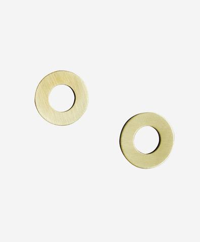 Серьги Disc Studs Brass
