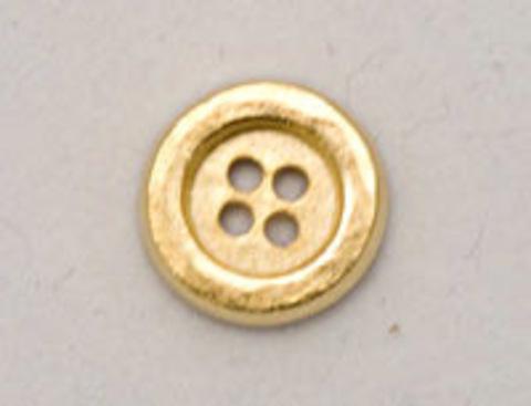 Пуговица металлическая, круглая, с 4 отверстиями, золотоого цвета, 14 мм