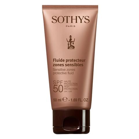 Sothys Protecting Sun Care: Флюид для лица и чувствительных зон тела SPF50 (Sensitive Zones Protective Fluid SPF50 High Protection UVA/UVB)
