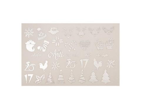 Фольга для дизайна ногтей серебро 62 купить за 120руб