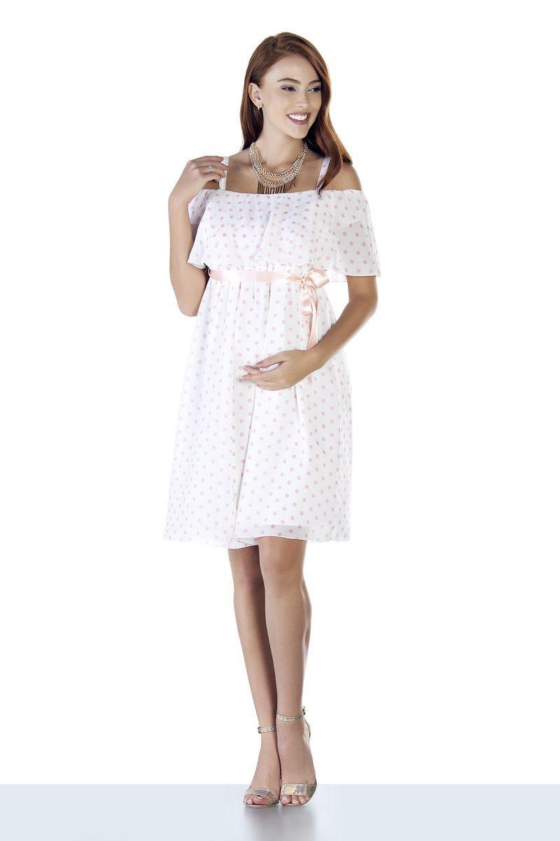 Фото платье для беременных EBRU от магазина СкороМама, цветной, горох, размеры.