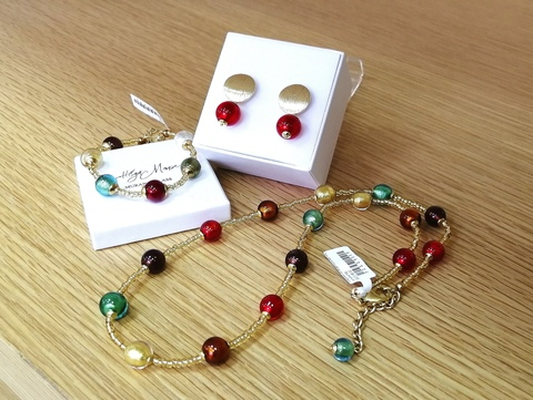 Комплект Carnevale Oro Piccolo Rotondo Orange (серьги, ожерелье, браслет)