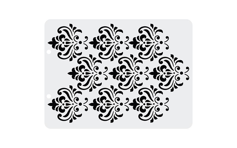 Трафарет пластиковый Дамаск, 12,5 х17 см
