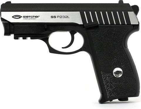 Пистолет пневматический Gletcher SS P232L, Blowback, металл, встроенный ЛЦУ