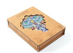 Индийский слон chapa puzzles - Деревянный пазл, мозаика, детали разных форм, уникальные картины которые вы собираете сами