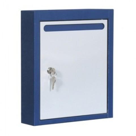 Ящик почтовый ЯПК-1 1-секционный металлический синий/светло-серый (280 x 75 x 375 мм)