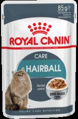 Пауч для кошек, Royal Canin Hairball Care, в целях профилактики образования волосяных комочков в ЖКТ (в соусе)