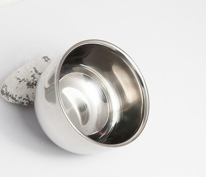 RAZ308 Стальная чаша для бритья с двойными стенками