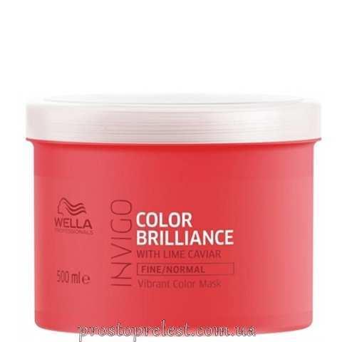 Wella Invigo Color Brilliance Mask Fine - Маска для тонкого і нормального фарбованого волосся 500мл